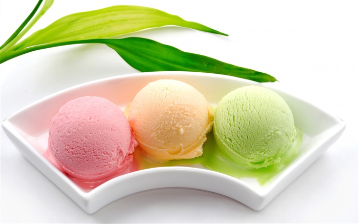 Ice cream balls, colorful, pink orange green Wallpapers Pictures Photos Images