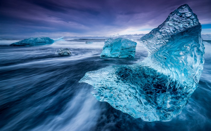 Iceland, iceberg, sea, ice Wallpapers Pictures Photos Images
