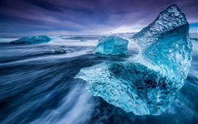 Iceland, iceberg, sea, ice HD wallpaper