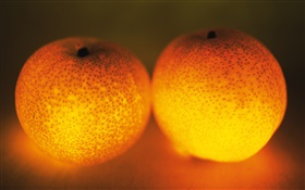 Light fruit, two oranges HD wallpaper