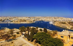 Malta, Zabbar, city, bay, houses