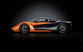 Marussia B1 supercar side view HD wallpaper