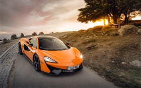 McLaren 570S orange supercar front view HD wallpaper