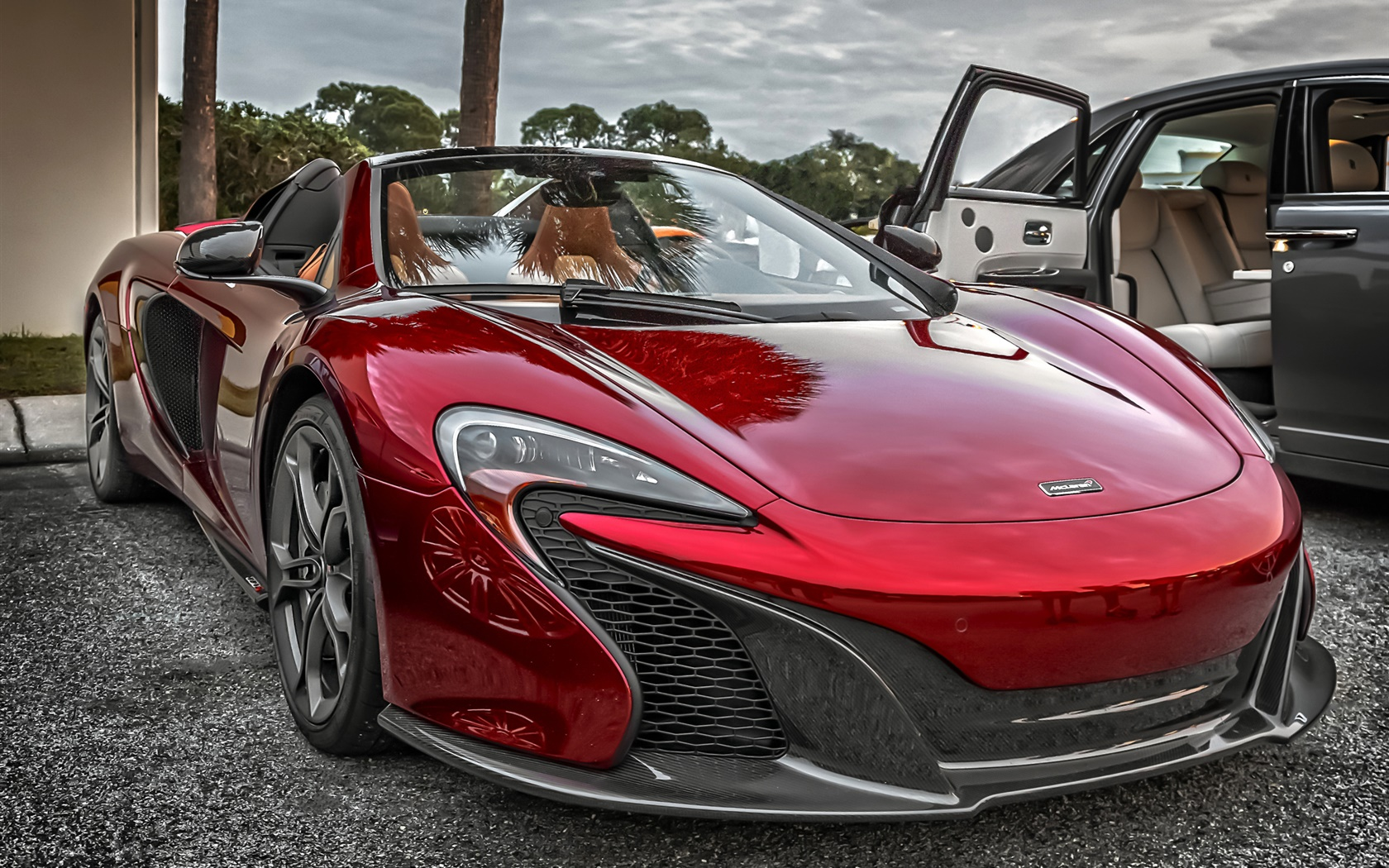 McLaren P1 red supercar front view 1680x1050 wallpaper