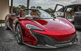 McLaren P1 red supercar front view HD wallpaper