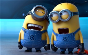 Minions, happy guys HD wallpaper