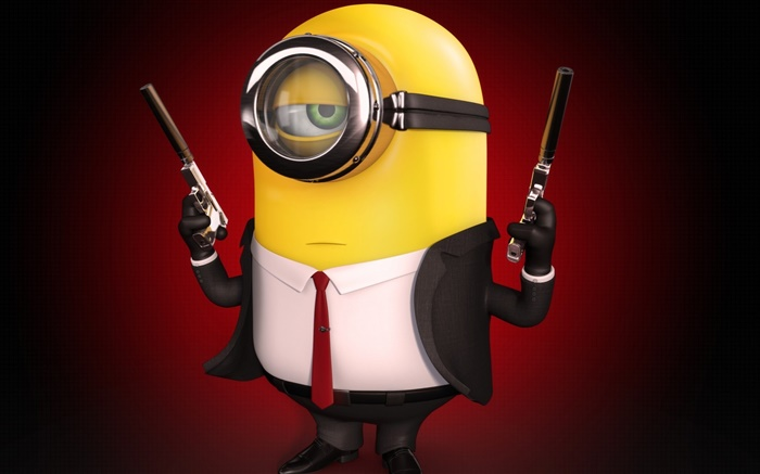 Minions, weapons, gun Wallpapers Pictures Photos Images