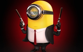 Minions, weapons, gun HD wallpaper