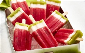 Popsicles, watermelon, ice cream