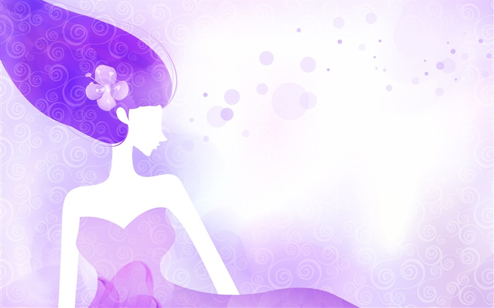 Purple and blue, vector girl, design Wallpapers Pictures Photos Images