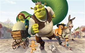 Shrek cartoon movie HD wallpaper