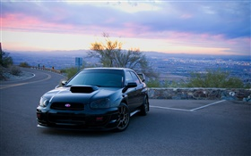 Subaru car at morning HD wallpaper