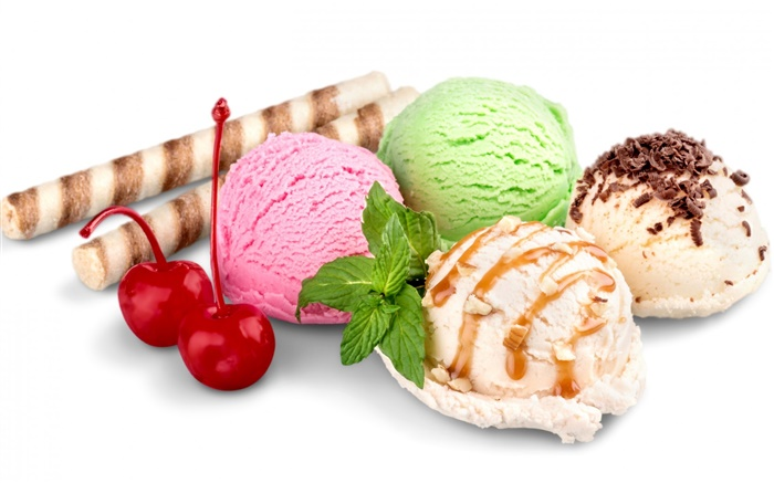 Summer sweet food, ice cream balls Wallpapers Pictures Photos Images