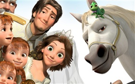 Tangled, Disney cartoon movie HD wallpaper