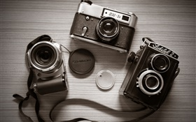 Three cameras HD wallpaper