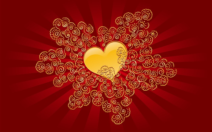 Valentine's Day, love heart, red style Wallpapers Pictures Photos Images