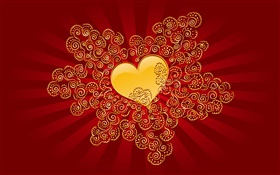 Valentine's Day, love heart, red style HD wallpaper