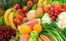 Vegetable, fruit, still life close-up HD wallpaper