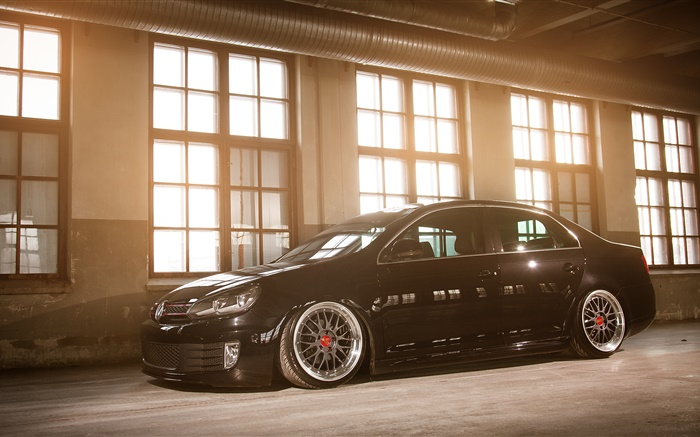 Volkswagen Jetta MK6 black car side view Wallpapers Pictures Photos Images