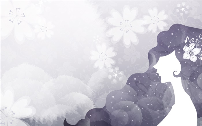 White black style, vector girl, fashion Wallpapers Pictures Photos Images