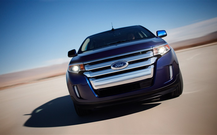 2011 Ford blue car front view Wallpapers Pictures Photos Images