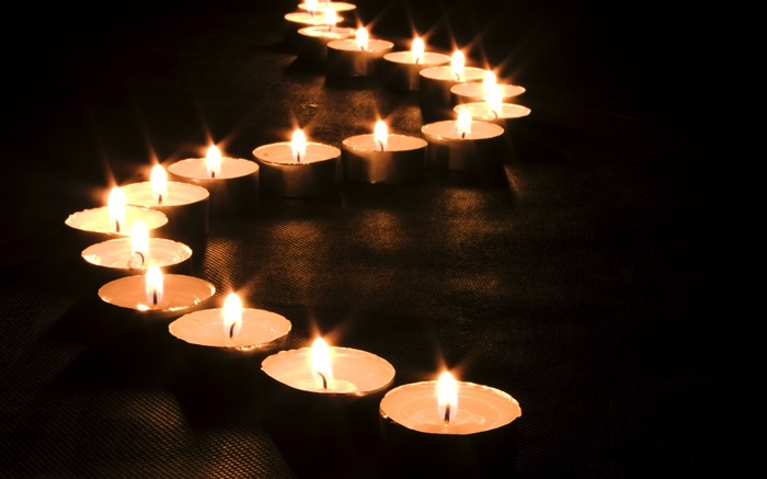 Candles line, fire, night Wallpapers Pictures Photos Images