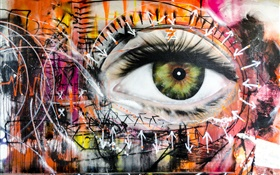 Colorful eye, creative design HD wallpaper