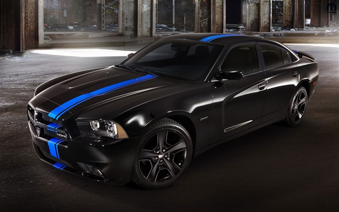 Dodge charger black car at night Wallpapers Pictures Photos Images