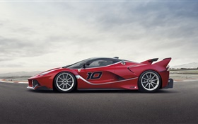 Ferrari FXX K red supercar side view HD wallpaper