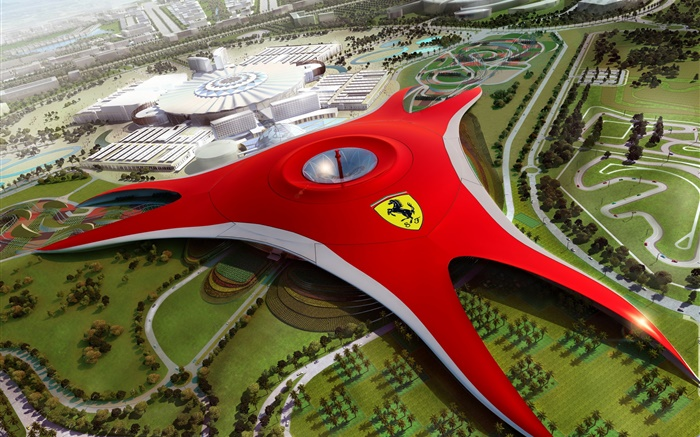 Ferrari World in Dubai, future design Wallpapers Pictures Photos Images