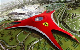 Ferrari World in Dubai, future design HD wallpaper