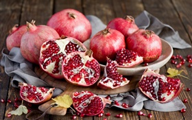 Fruit pomegranate close-up, still life HD wallpaper