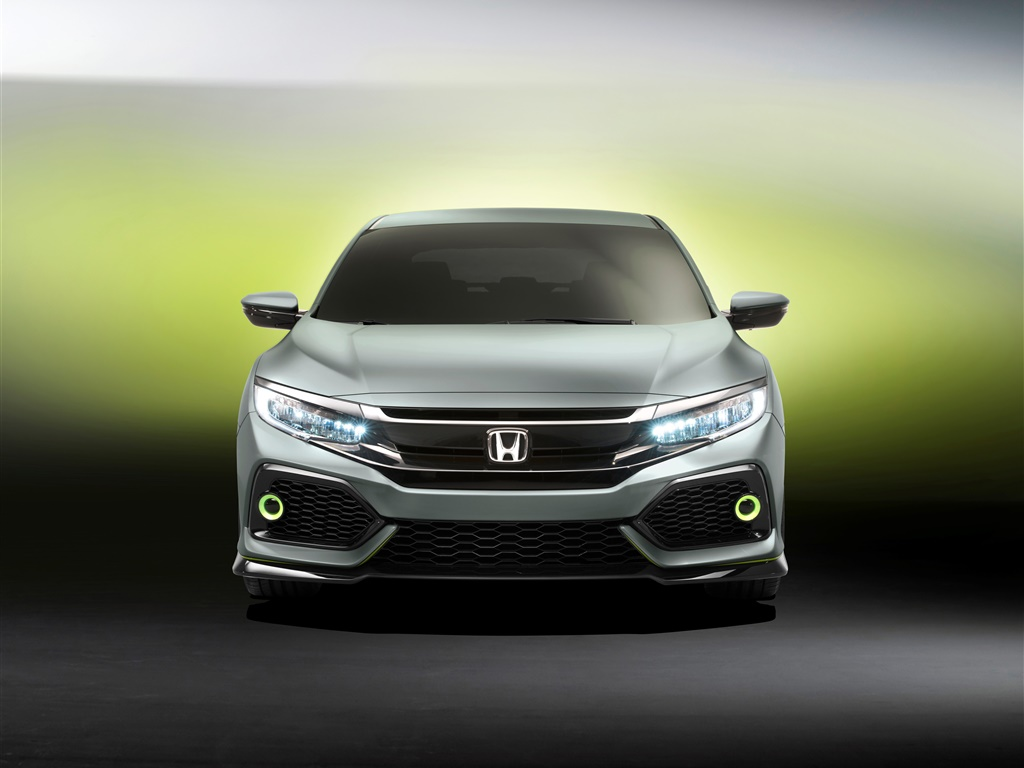 Honda Civic Hatchback car front view 1024x768 wallpaper