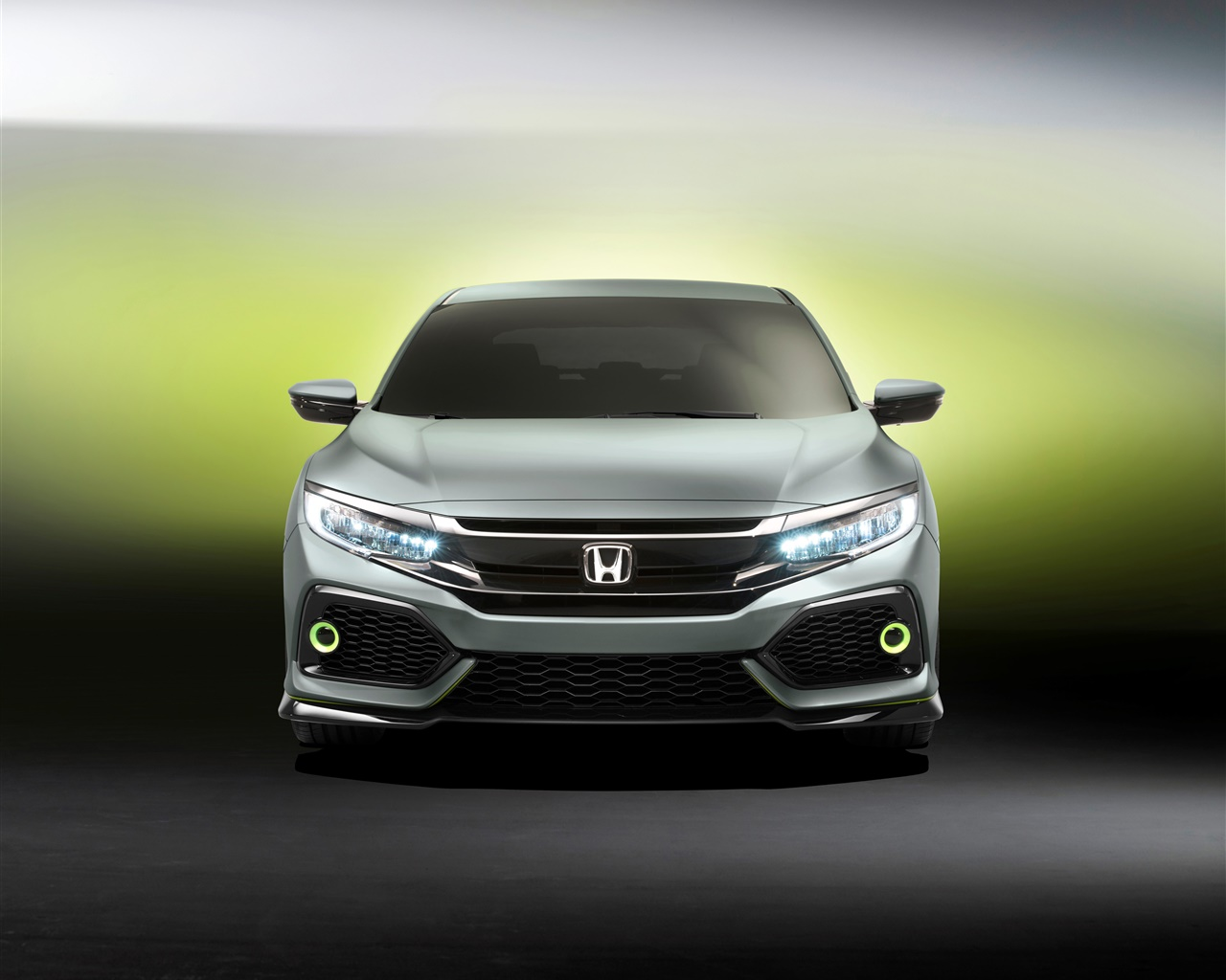 Honda Civic Hatchback car front view 1280x1024 wallpaper