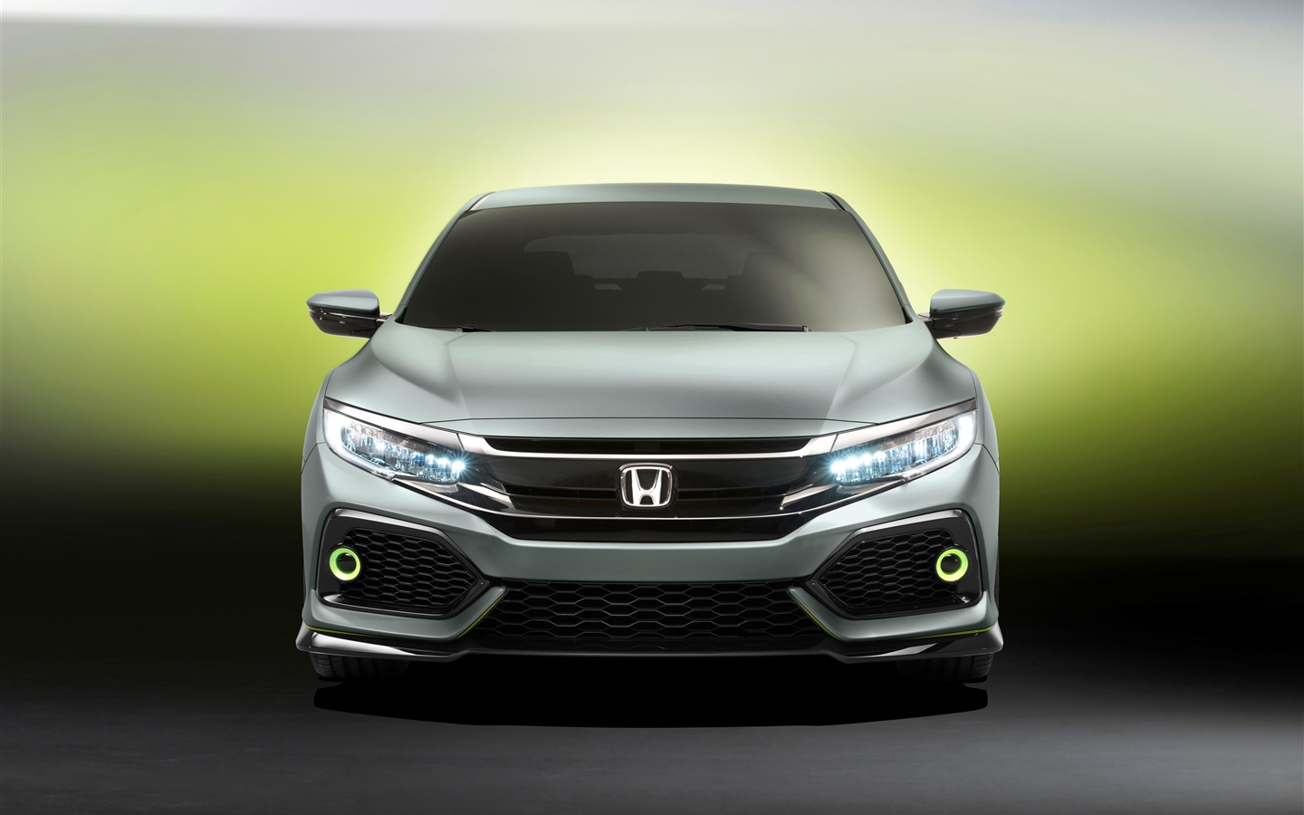 Honda Civic Hatchback car front view 1440x900 wallpaper