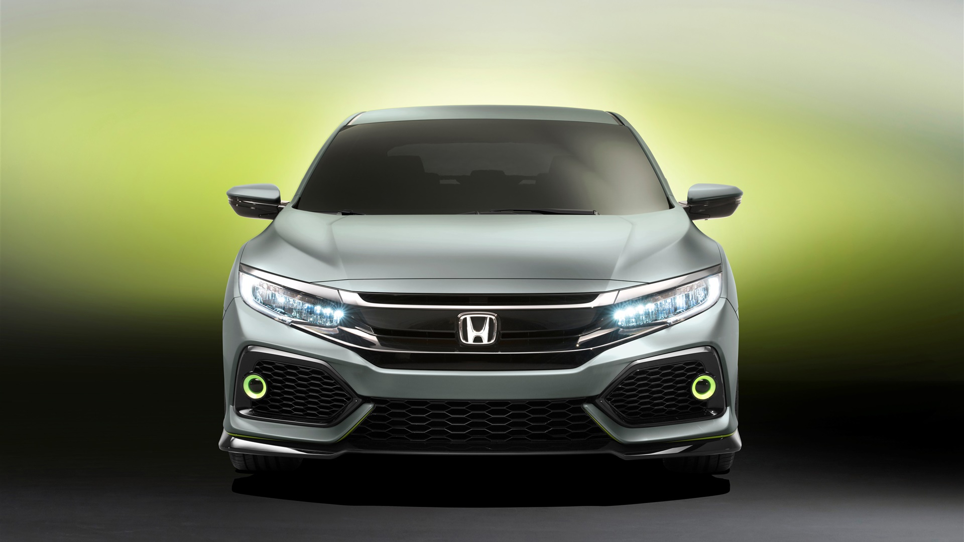 Honda Civic Hatchback car front view 1920x1080 wallpaper