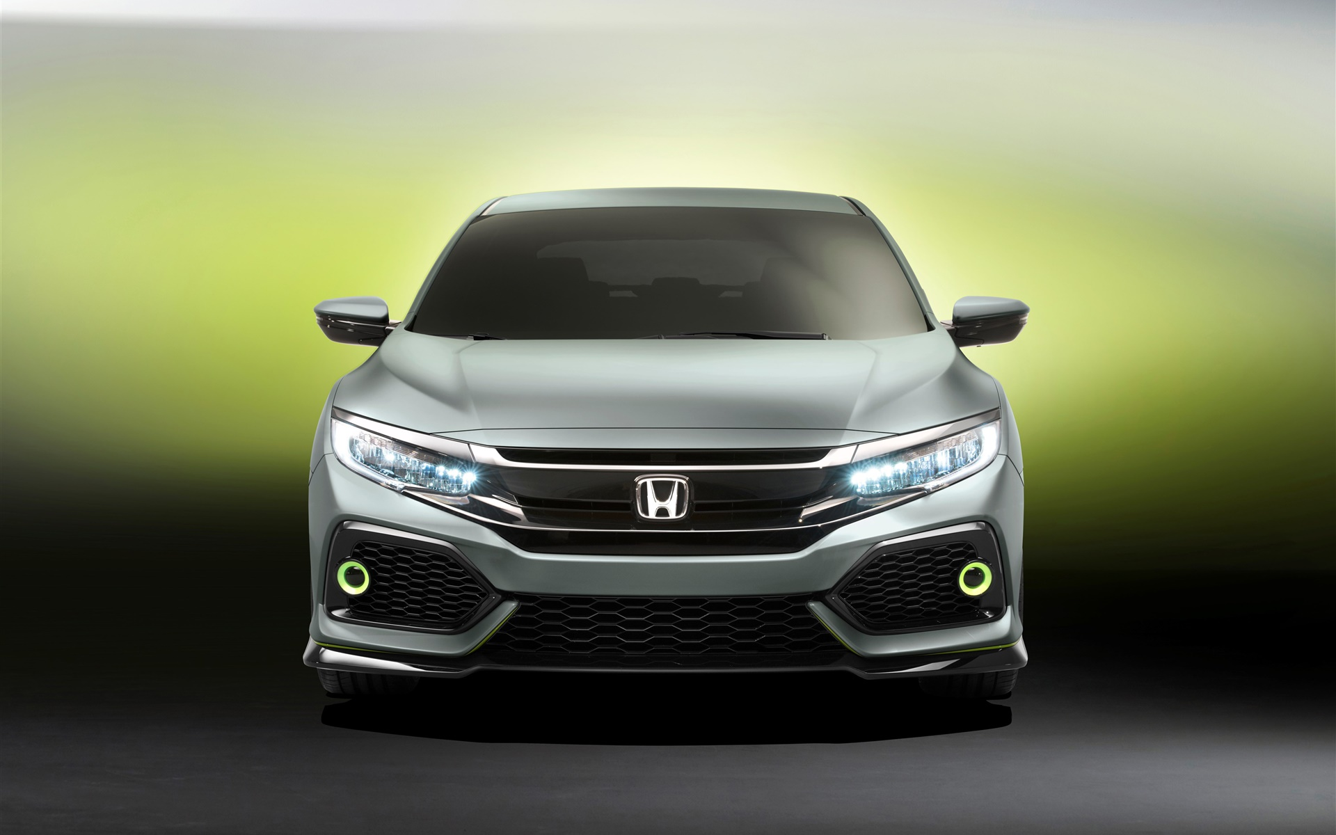 Honda Civic Hatchback car front view 1920x1200 wallpaper