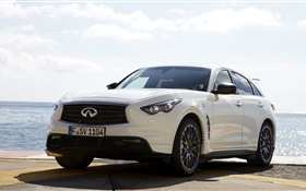 Infiniti FX50 Vettel Edition white car HD wallpaper