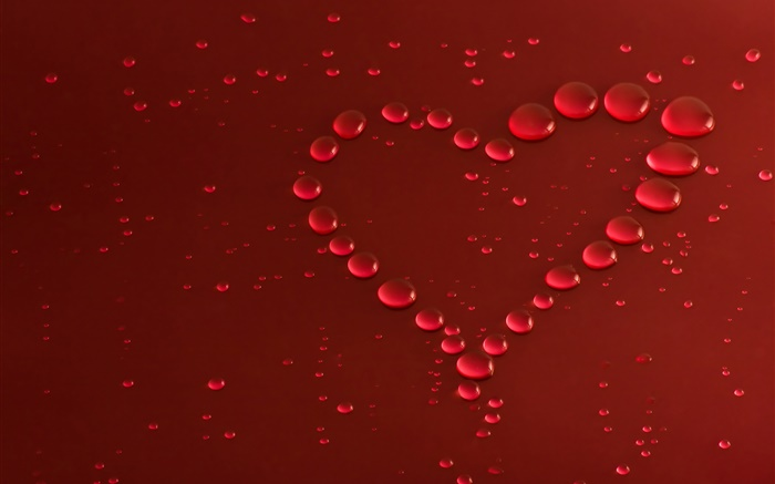 Love heart, water drops Wallpapers Pictures Photos Images