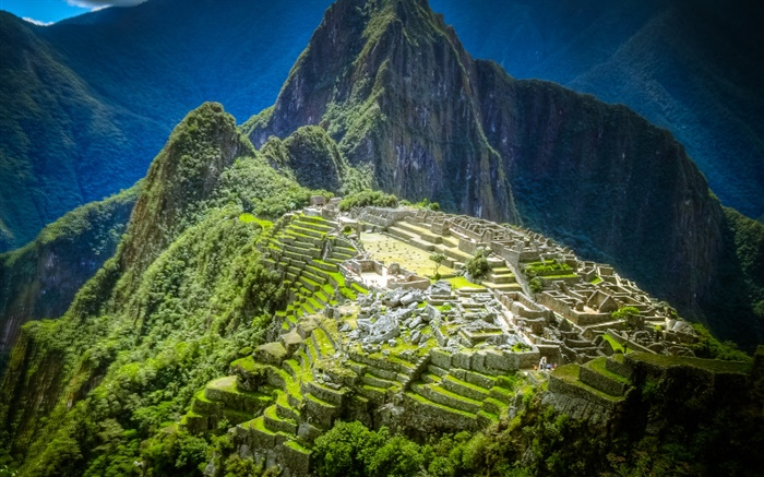 Machu Picchu, Peru, mountain, buildings Wallpapers Pictures Photos Images