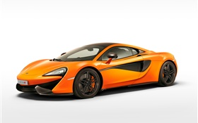 McLaren 570S orange supercar side view HD wallpaper