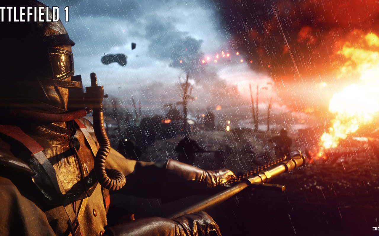Battlefield 1, flamethrower 1280x800 wallpaper