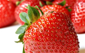 Fresh strawberry macro photography HD wallpaper