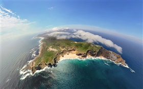 Africa, Cape Town, Atlantic, Indian, top view, clouds HD wallpaper