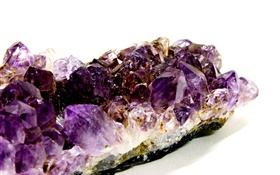 Amethyst birthstone, white background HD wallpaper