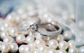 Diamond rings and pearls HD wallpaper