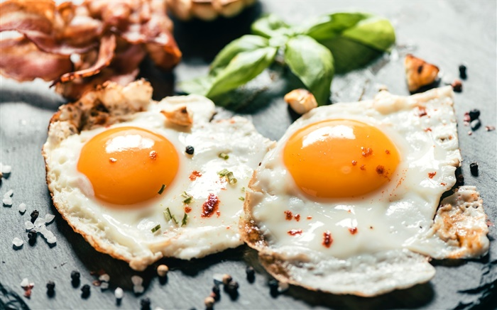Breakfast, fried eggs Wallpapers Pictures Photos Images