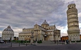 Cathedral, Pisa leaning tower, Italy, city HD wallpaper