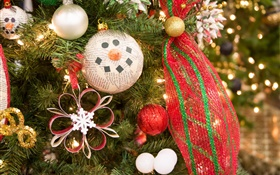 Christmas tree, decoration, toys, balls