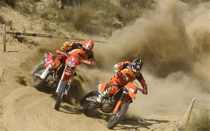 Motorcycle racing, KTM, riders, dirt Wallpapers Pictures Photos Images